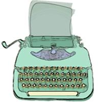fb profile pic typewriter